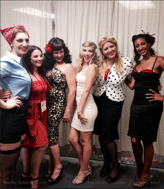 Pin-Up Girls with @Celeste Giuliano !  We looooooovee her!