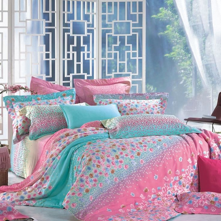 Pink Turquoise Girly Chic Floral Paisley Pattern Rug By: 17 Best Images About Bedding & Comforter Sets On Pinterest