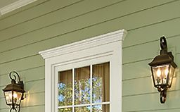 simple exterior door or window trim