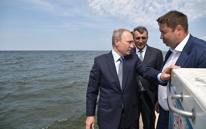Sputnik Türkiye ///  Peskov: Putin dağlarda ATV turu yaptı, nehirde balık tuttu