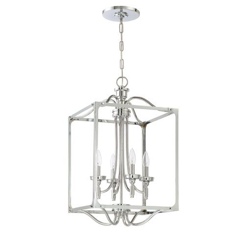 Jeremiah By Craftmade Sophia Chrome Four Light 15 Inch Chandelier On SALE