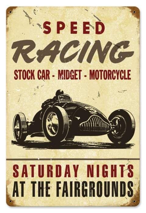 Vintage Speed Racing Metal Sign, $22.98 (http://www.jackandfriends.com/vintage-speed-racing-metal-sign/)