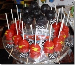 Cars Birthday Party Cake Pops