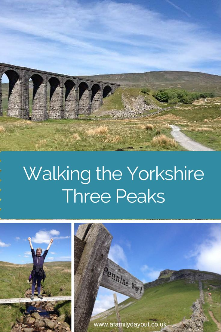 Walking the Yorkshire Three Peaks with children. Climbing Pen-y-Ghent, Ingleborough and Whernside in the Yorkshire Dales, UK