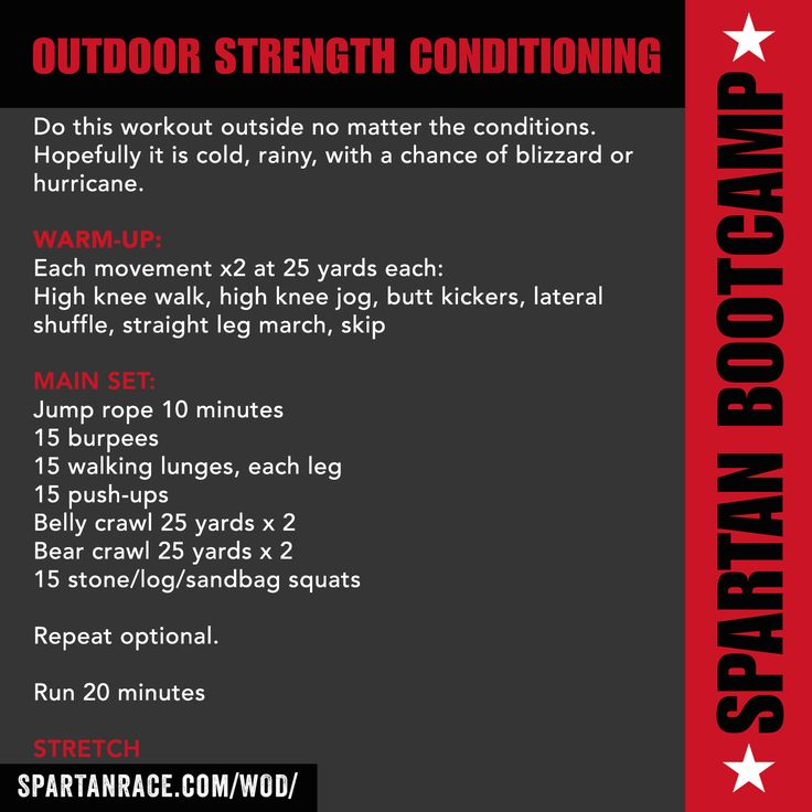 Outdoor Strength & Conditioning WOD | Spartan Bootcamp