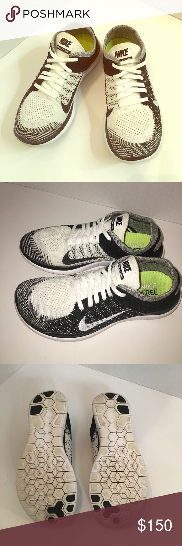 Nike Flyknit Oreo White and black flyknit Oreo hard to find perfect condition no stains just been clean Nike Shoes Athletic Shoes