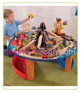 Kidkraft Super Highway Train Set And Table table circuit train dinosaures | Circuits trains | Jouets en bois ...