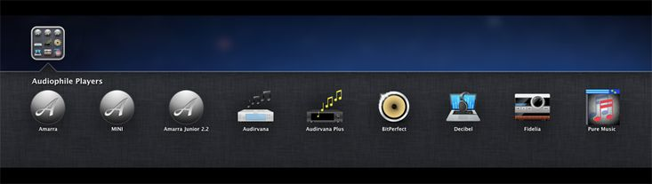 OS X Audio Players: Amarra, Audirvana, Pure Music, Fidelia, Decibel, and BitPerfect.