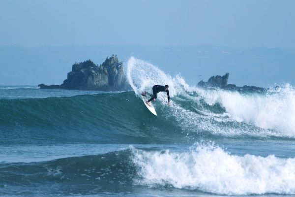 Surf's up, Ace! Great surf, fantastic beaches in Morlaix Bay, Brittany, France. This one at Locquirec.