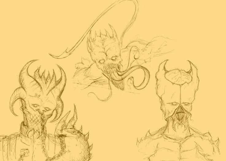 Demon concept sketches 2