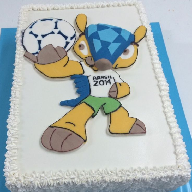 "Torta ""Fuleco"", la Mascota del Mundial de Brasil 2014, de Pastelería dCondorelli - www.dcondorelli.cl - Santiago, Chile"