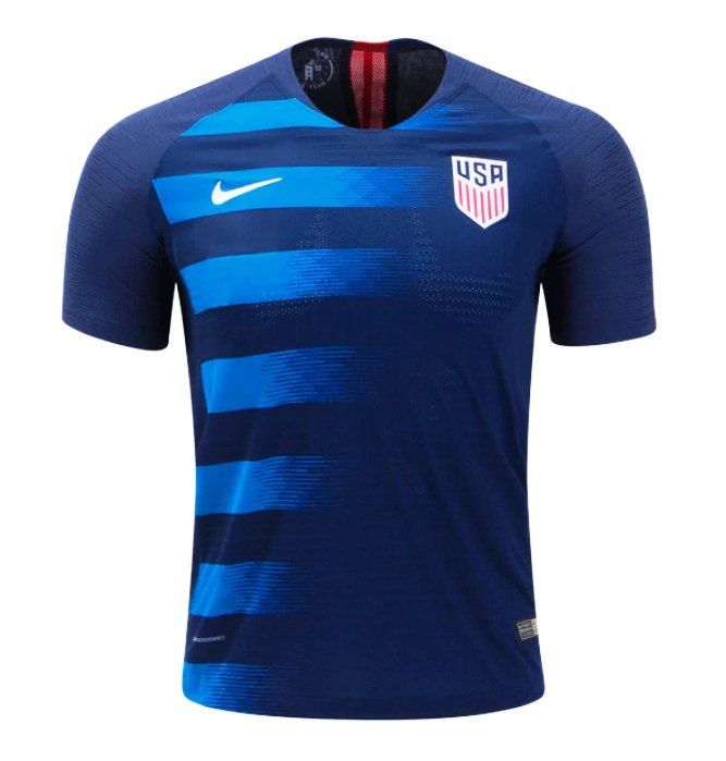 Men S Usa Away Soccer Jersey 2018 2019 Blue Football Cristiano Tottenham Garethbale Dembele Leomess Soccer Shirts Designs Soccer Jersey Usa Soccer Jersey
