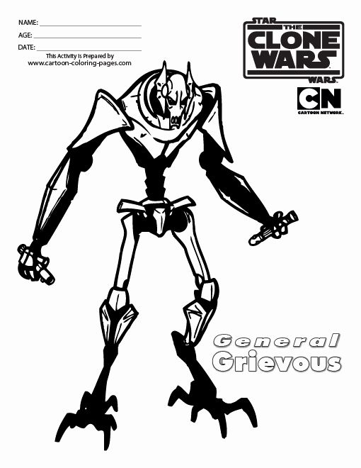 General Grievous Coloring Page Elegant General Grievous Coloring
