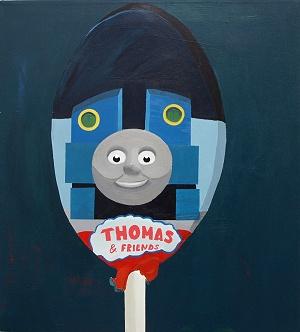 Jonna Pedersen - Laughing Lollypop  60 x 54 cm