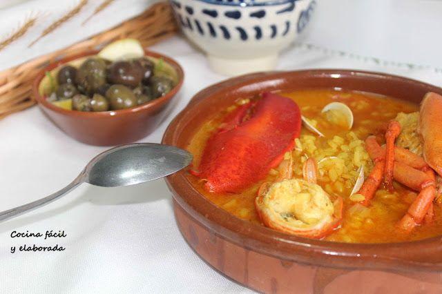 cocina facil y elaborada: ARROZ CON BOGAVANTE (RECETA FÁCIL, 30 MINUTOS)
