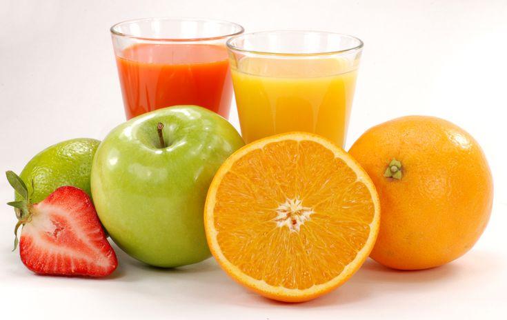 Zumos naturales de frutas.