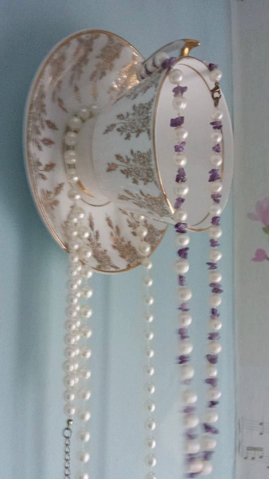Vintage Fine China Teacup Jewellery Wall Hanger, Jewellery Storage/box Wall  Decoration, Pretty