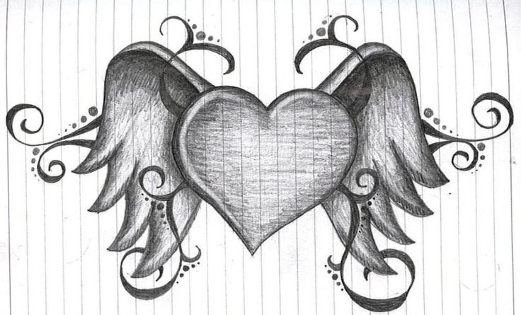 Amazing Quotes To Draw: Heart With Wings By Amanda11404.deviantart.com On