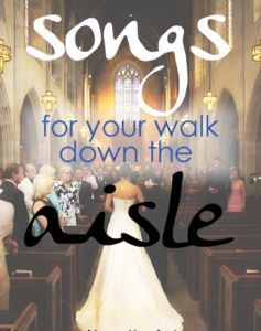 "Songs to Walk down the Aisle to. love that ""a thousand years"" is number 2! bc that was what i wanted!!!!"