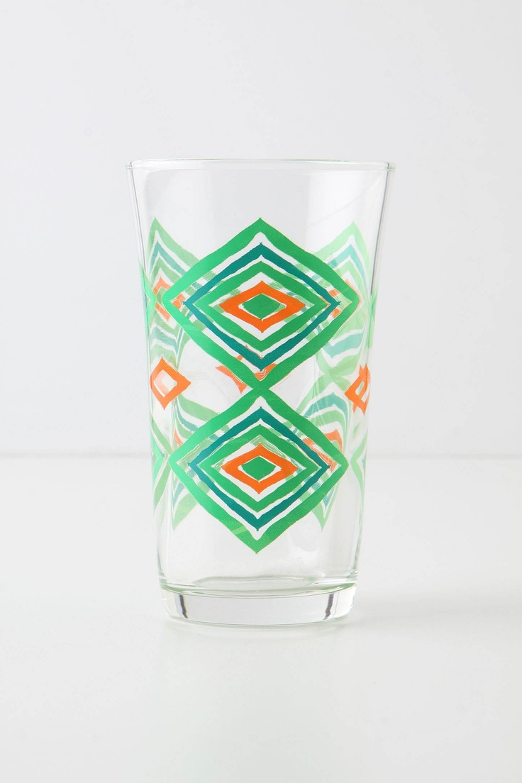 on sale at anthroKitchens, Glasses Anthropology, Tread Water, Green Motif, Juice Juice, Dining, Blue Orange, Anthropologie Com, Water Glasses