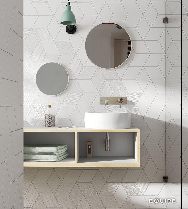 Rhombus White 14x24