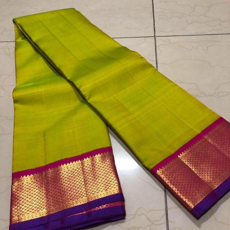 THKS6900003- Thamboori handwoven pure kanjivaram silk- Green pink beauty 6