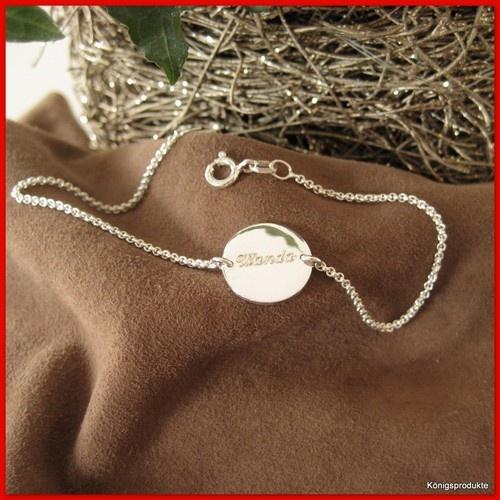 1 Erbsarmband mit 1,3 mm Gravurplatte in 925er Silber, Armband mit Gravur, 19 cm | eBay