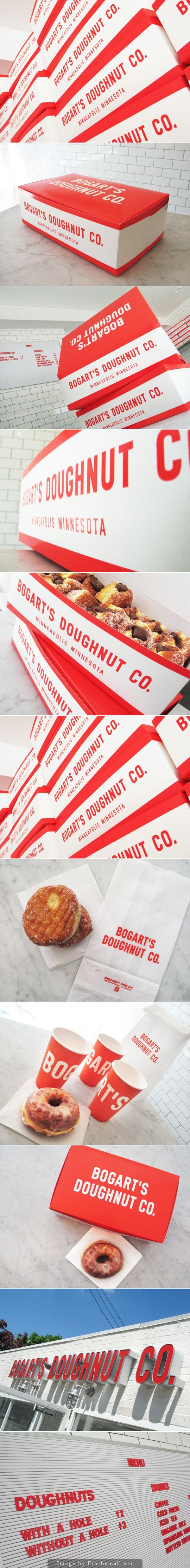 Bogart's Doughnut Co. #packaging #design | by Jeff Holmberg, Holmberg Design Co.