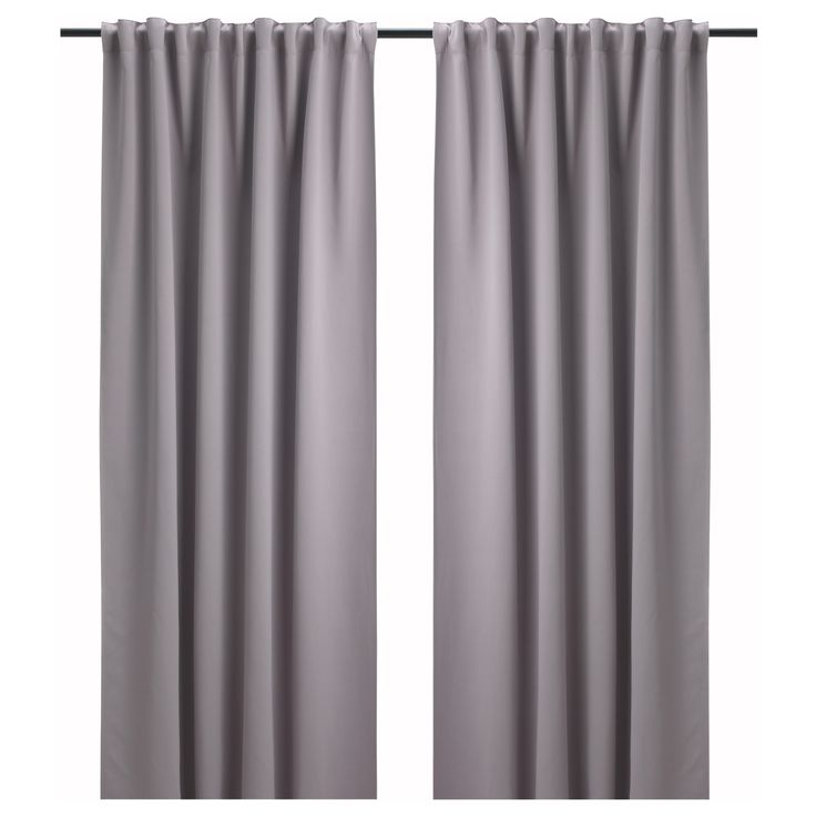 bollolvon block out curtains 1 pair grey 145x250 cm. Black Bedroom Furniture Sets. Home Design Ideas