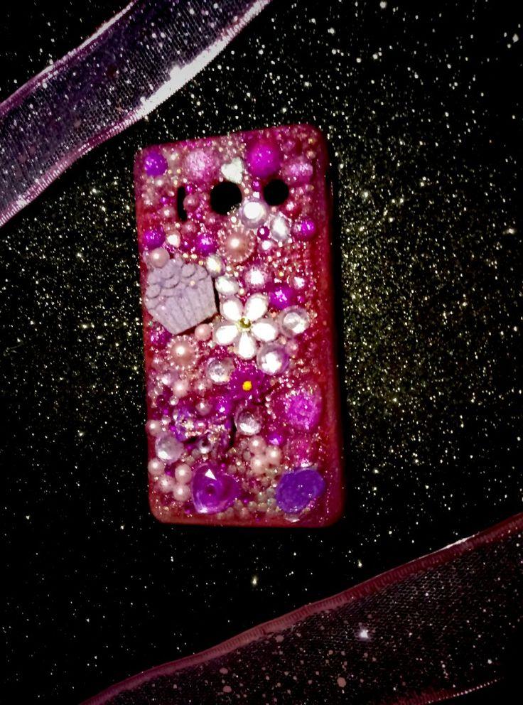 💜Per Marianna cover case total purple con inserti in pendant...grazie per aver scelto CreaCi💜 #creaCi #colcuore #handmade #covercase #coverpersonalizzate #huaweiy300 #creation #fantasy #cupcakes #strass #swarovski #purple #pearls