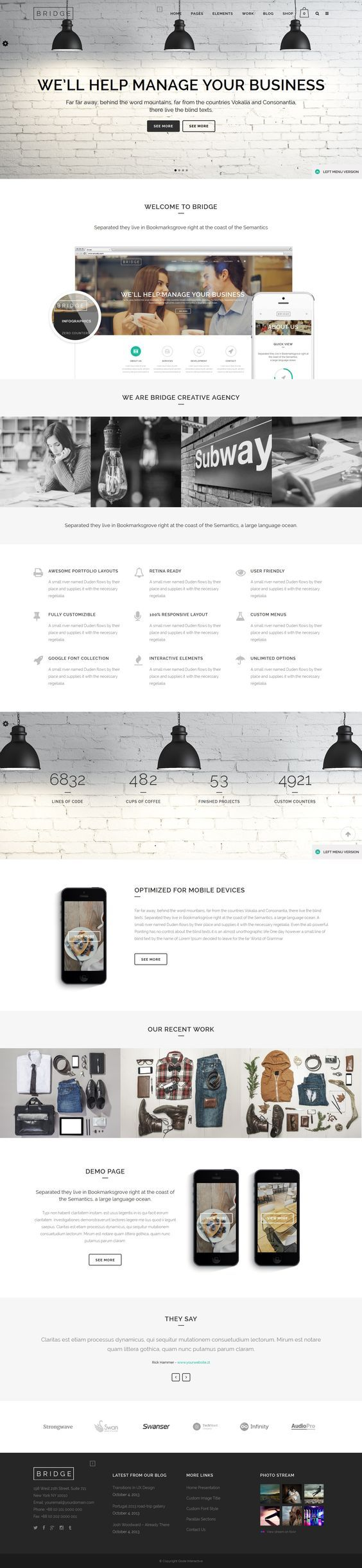 12+ Best CreAtive Onepage WordPress Themes 2014 #web #design #wordpress: