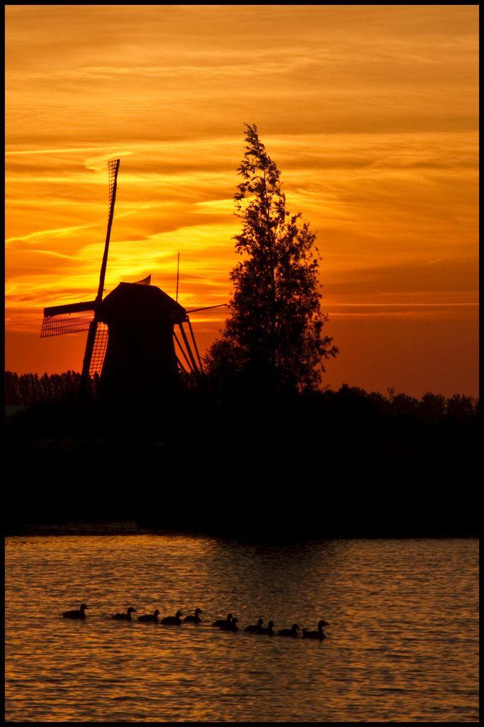 Sunset. The Netherlands