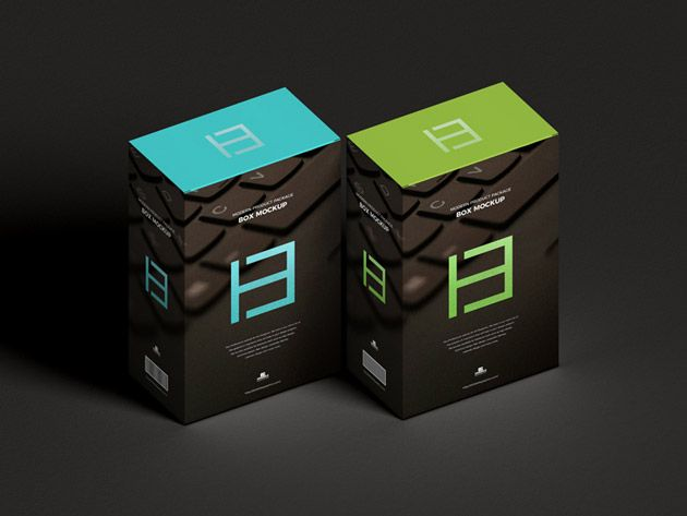 Download Modern Product Package Box Mockup Box Mockup Box Packaging Mockup
