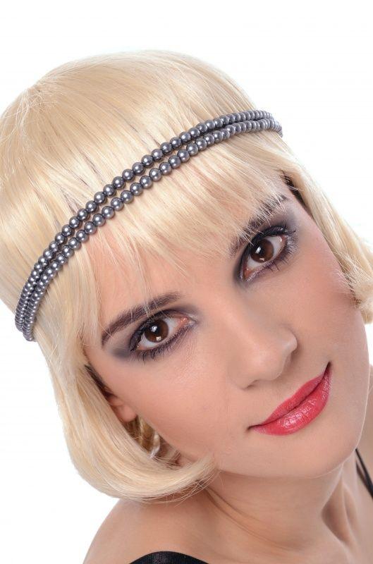 Opaska z perełek- idealna do stylizacji na lata dwudzieste a także do wieczorowej sukienki