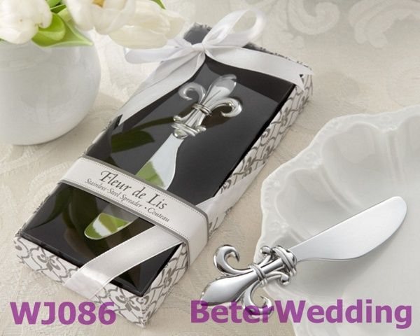 France Fleur-de-Lis Chrome Spreader Wedding Shower Favor         #freeshipping #weddingfavors #weddinggifts #partysouvenirs #baptism http://aliexpress.com/store/product/Wedding-Dress-Tuxedo-Favor-Boxes-120pcs-60pair-TH018-Wedding-Gift-and-Wedding-Souvenir-wholesale-BeterWedding/512567_594555273.html