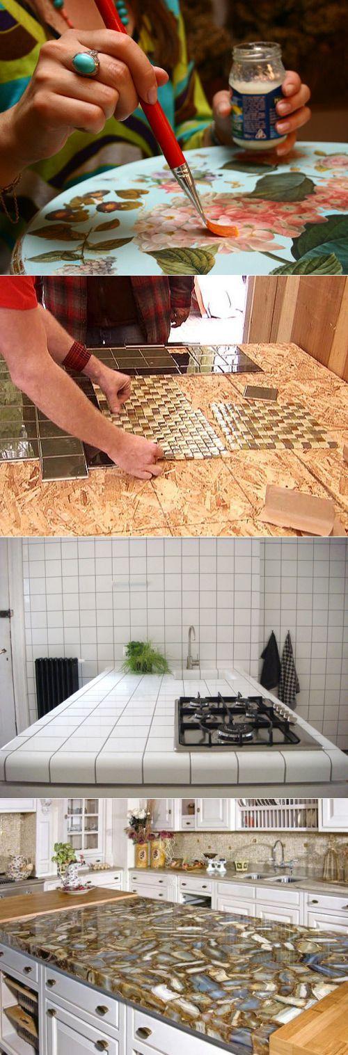 Декор столешницы на кухне: способы украшения, материалы и необычные идеи
