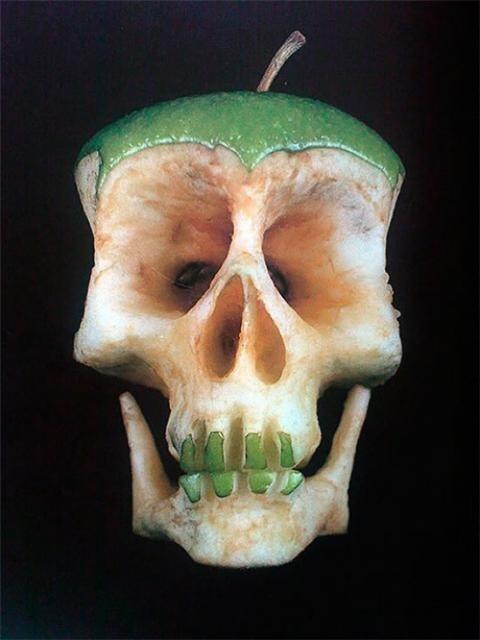 Macabre Apple art