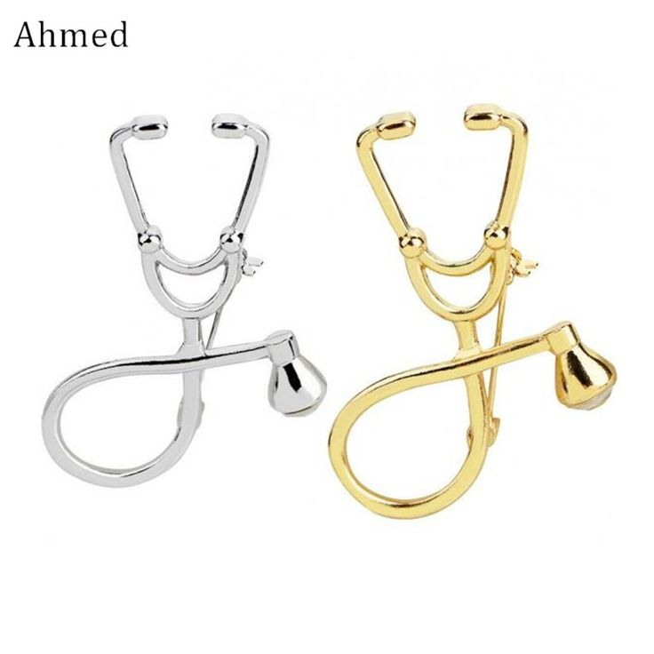 Ahmed Europe and the United States Fashion Simple Gold Silver Geometric Doctor Stethoscope Creative Design Brooches For Women. Yesterday's price: US $1.14 (0.94 EUR). Today's price: US $0.57 (0.47 EUR). Discount: 50%.