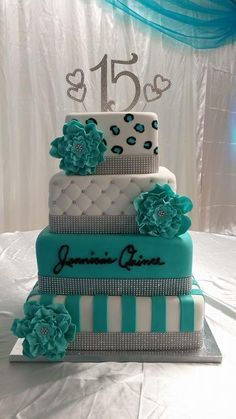 1000+ ideas about Turquoise Cake on Pinterest | Peacock Cake ...