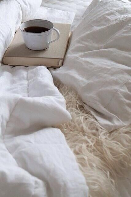 Coffee in bed, one if the best things ever. I will have this every morning in my dream cottage.