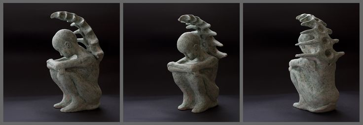 Sylwia Łabaj - ceramic sculpture, figure of woman, height 20cm