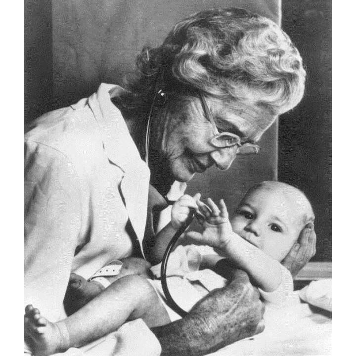 """Today in Mighty Girl history, Dr. Helen Taussig -- the founder of the field of pediatric cardiology was born in 1898. She is best known for discovering the cause of """"blue baby syndrome,"""" a birth defect of the heart that had a very high mortality rate. She also designed a technique which has saved the lives of thousands of babies. She continued her research work until the day of her death at the age of 87."""