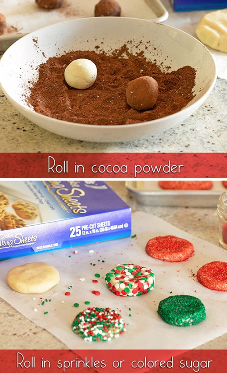 Two ways to make different cookies with the same dough!