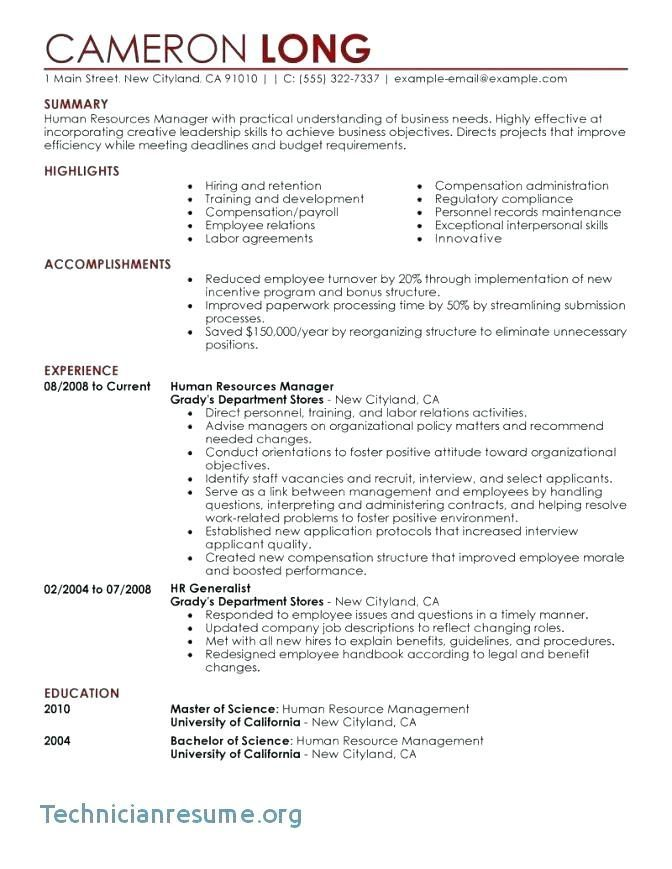 Sample Hr Resumes Examples Of Human Resources Resumes Hr Resumes 9