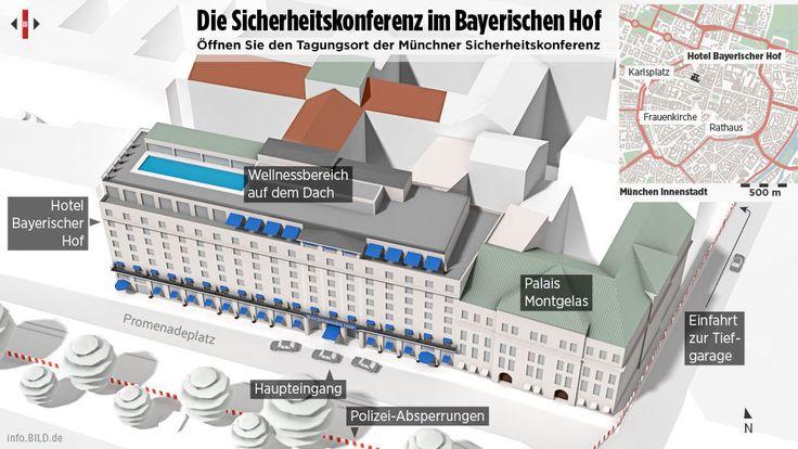 Blick hinter die Kulissen der Münchner Sicherheitskonferenz | BILD erklärt das geheimste Hotel der Welt - Politik Inland - Bild.de