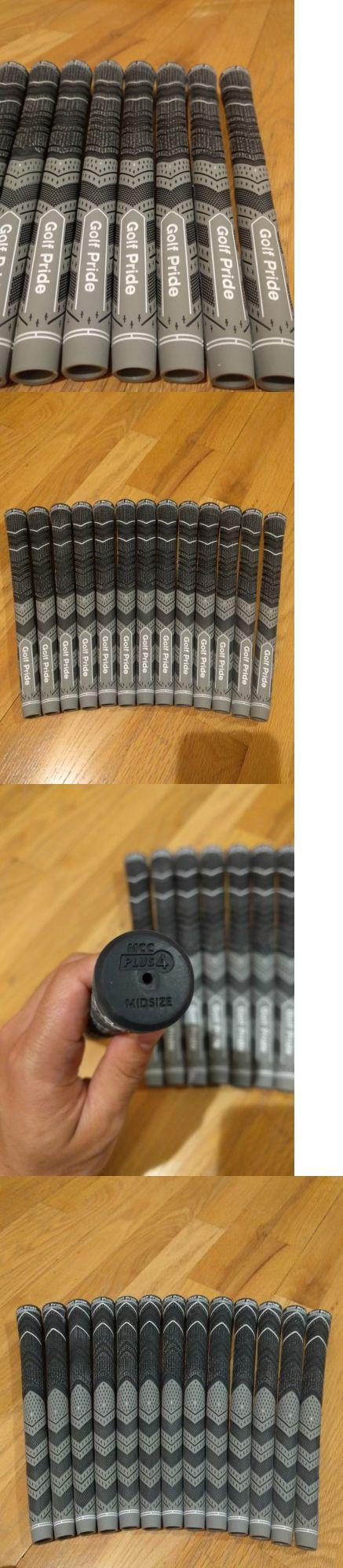 Golf Club Grips 47324: 13X Golf Pride Mcc Plus 4 Multicompound Golf Grips Gray Black Midsize Set -> BUY IT NOW ONLY: $100 on eBay!