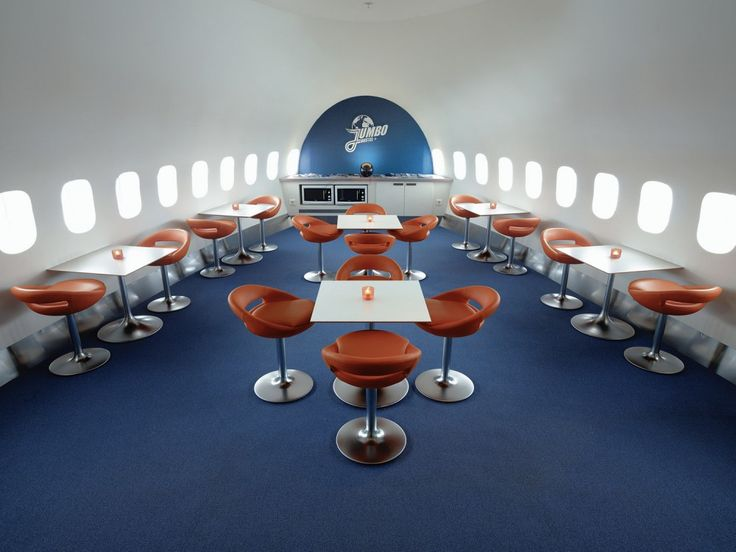 Jumbo Stay: a hostel created out of a decommissioned Boeing 747-200, built in 1976 for Singapore Airlines and which later flew for Pan Am from 1984–1991. It made its last commercial flight in 2002 when it flew between Stockholm and Dublin.