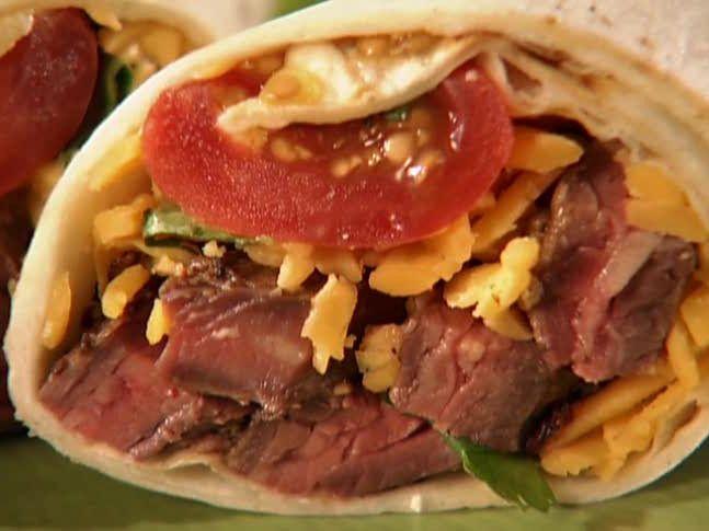 Marinated Skirt Steak Burritos from FoodNetwork.com
