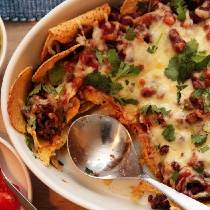 Kjappe nachos med salsa og guacamole