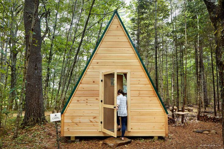 Aframe cabin getaway for groups for woodland farm retreat